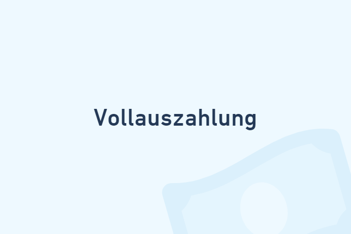 Vollauszahlung