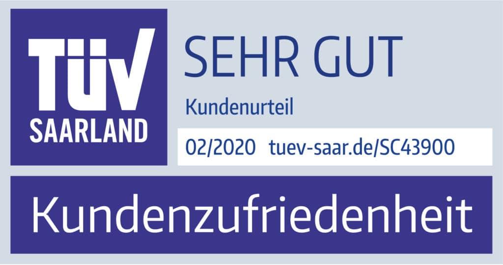 """TÜV-Siegel Saarland - """"Sehr gut"""""""
